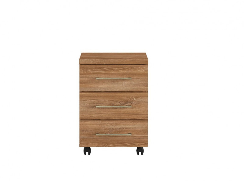 Modern Pedestal Drawer Unit Home Office Mobile Storage Drawers Oak - Gent (S228-KON3S/6/4-DAST-KPL01)