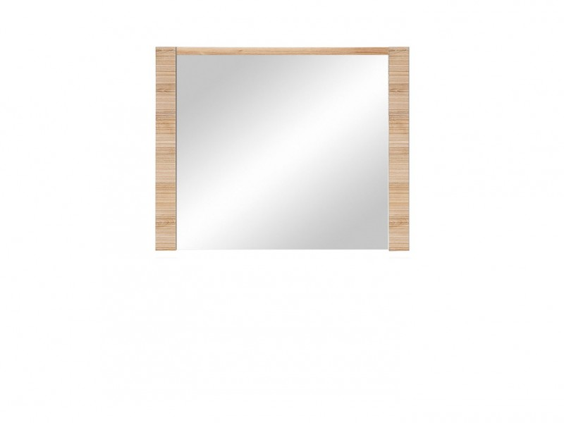 Large Rectangular Mirror in Light Oak finish - Raflo (LUS/8/10)