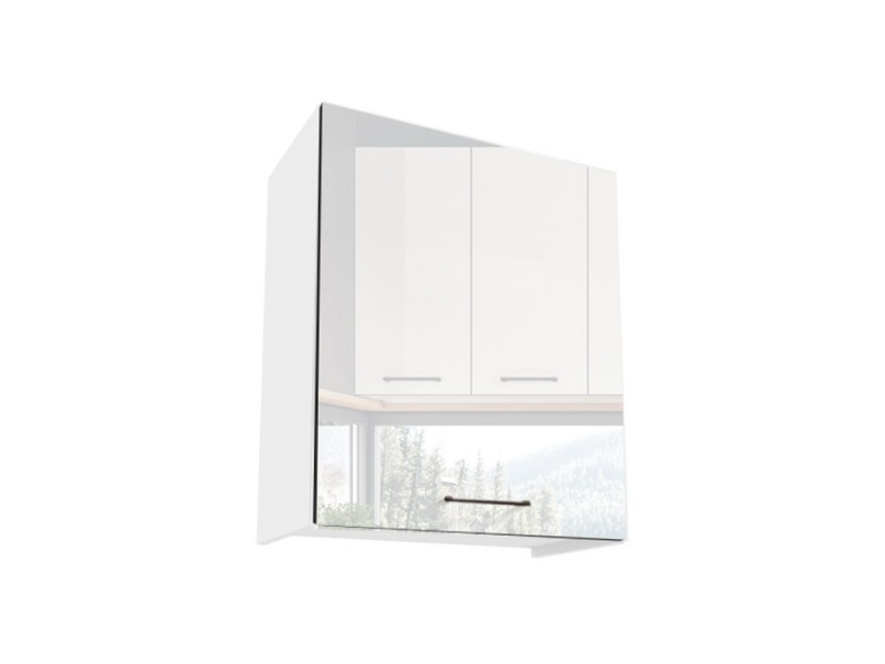 Free Standing White Gloss Kitchen Cabinet Cupboard Wall Unit 60cm - Roxi (Roxi W60 P/L)