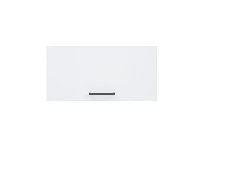Modern Free Standing Kitchen Extractor Housing Wall Cabinet 60cm - White/White Gloss - Junona (K24-GO/60/30-BI/BIP-KPL01)