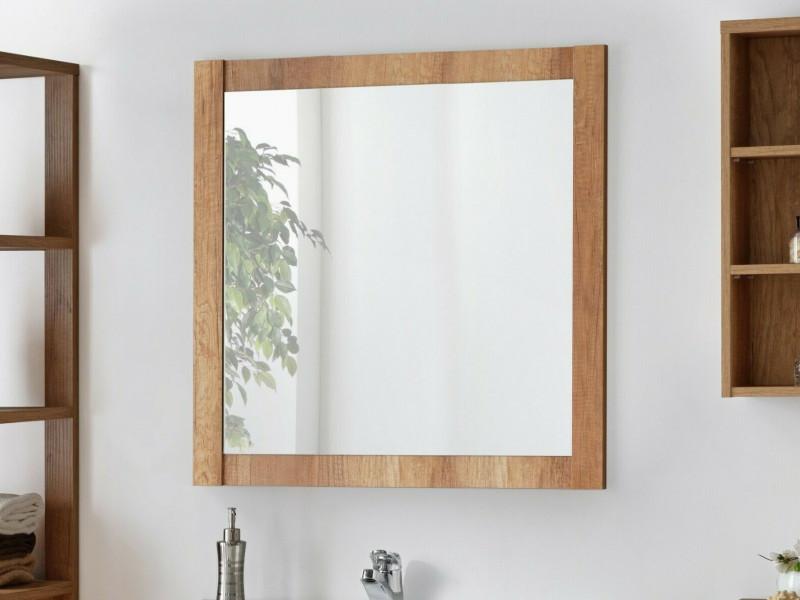 Classic Square Wall Mounted Bathroom Mirror 80cm Oak - Classic Oak (CLASSIC_841_OAK)