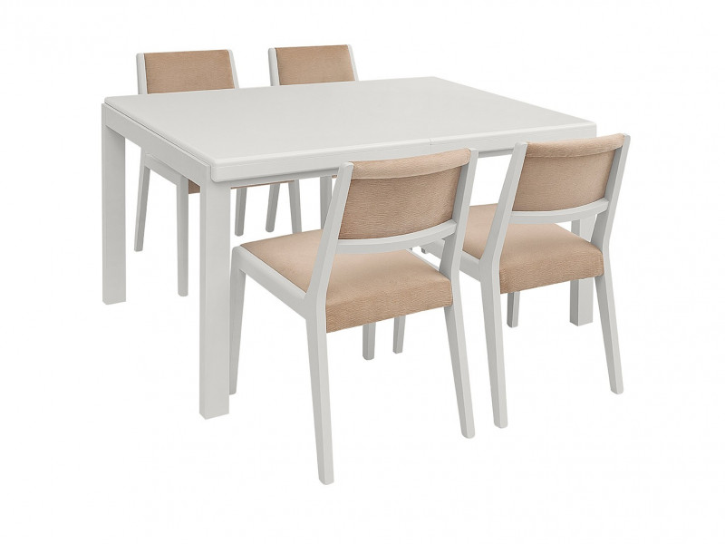 White Dining Room Furniture Set - Byron (STO / ALHER)