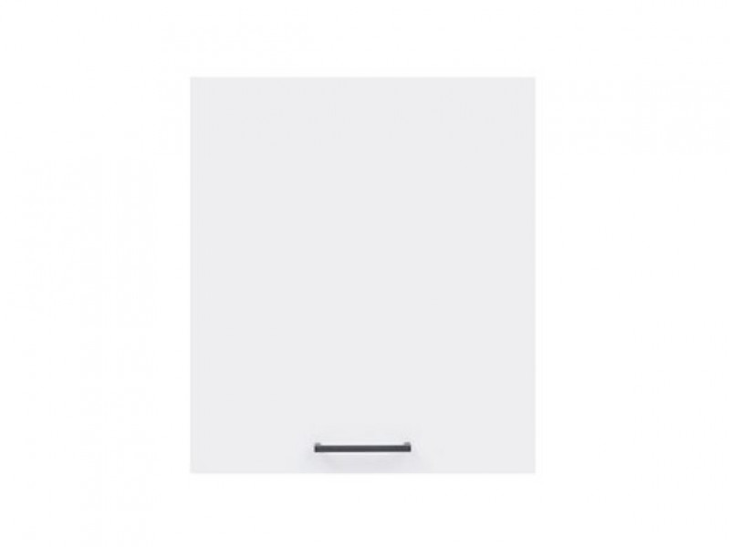 Modern Kitchen Wall Cabinet 500 Cupboard 50cm Unit White/White Gloss - Junona (K24-G1D/50/57_LP-BI/BIP-KPL01)
