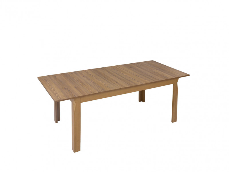 Traditional Light Oak Dining Room Rectangular Extending Dining Table 160 - 200cm - Bergen (S359-STO/160-MSZ-KPL01)