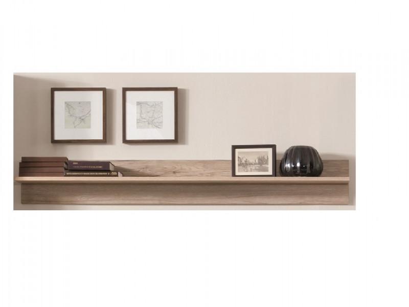 Sleek Modern 150cm Floating Wall Mounted Storage Display Shelf in Light Oak Effect Finish - Elpasso (S314-POL/150-DSAJ-KPL01)