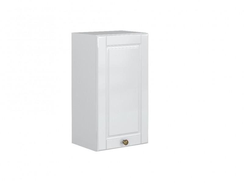 White High Gloss Kitchen Cabinet 1 Door 400 Wall Unit 40cm Shaker Style - Antila (HOF-ANTILA-W40/72_P/L-BI-BIP-KP01)