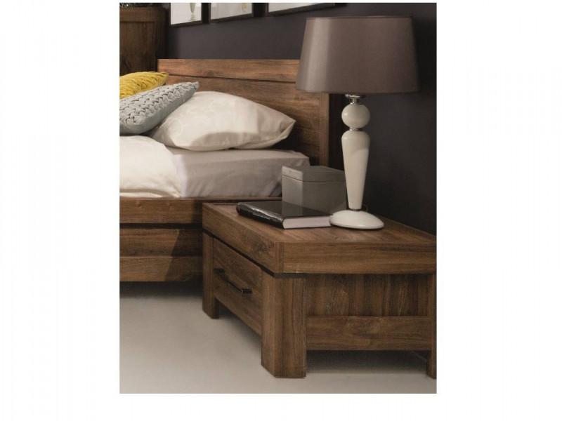 Modern 1 Drawer 53cm Bedside Nightstand Table Cabinet Bedroom Storage Unit Medium Oak Effect - Gent (S228-KOM1S-DAST-KPL01)