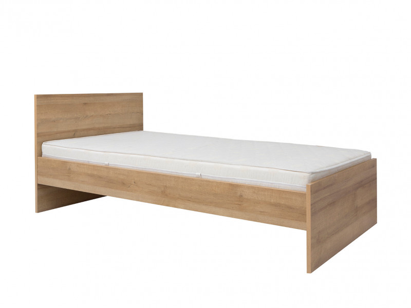 Modern Single Bed Frame in Oak finish - Balder (S382-LOZ/90-DRI-KPL01)