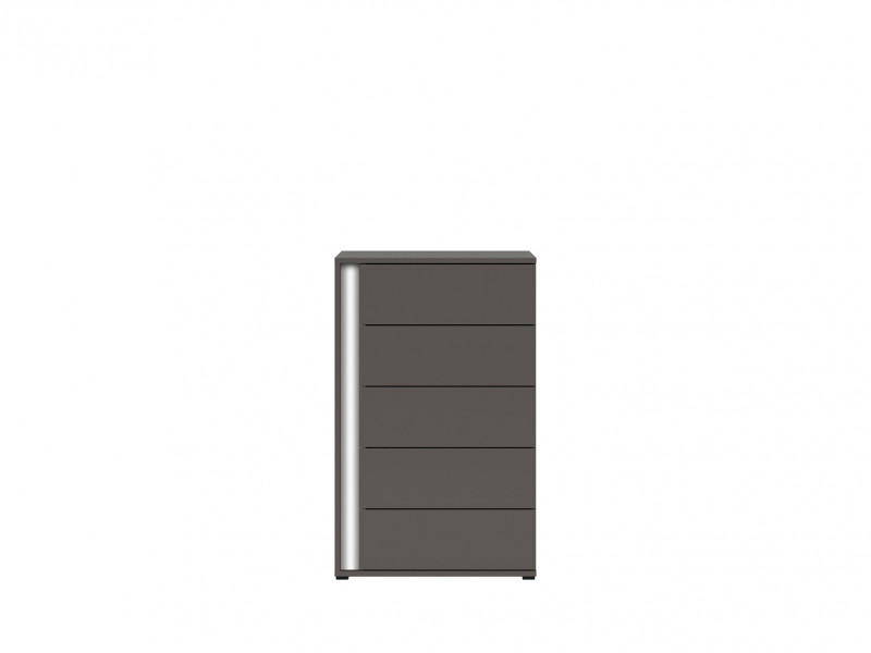 Grey Chest of Drawers Right Storage Kids Bedroom - Graphic (S343-KOM5SP/C-SZW-KPL01)