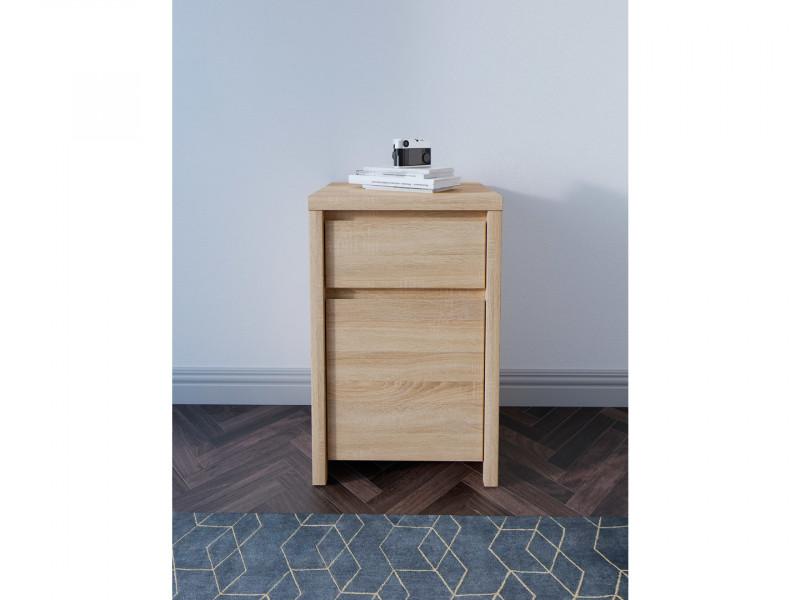 Modern Side Cabinet Small Storage Drawer Unit Sonoma Oak - Kaspian (S128-KOM1D1SP-DSO/DSO-KPL01)