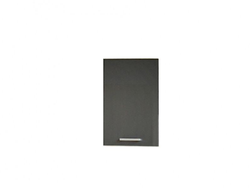 Free Standing White/Grey Gloss Kitchen Cabinet Cupboard Wall Unit 40cm - Modern Luxe (STO-MODERN_LUX-W40/58-P/L-GREY-KP01)