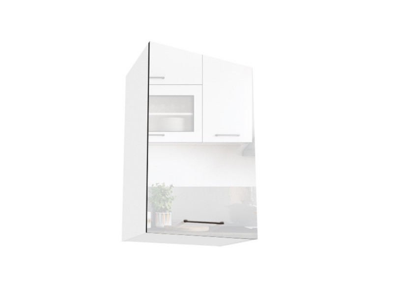 Modern White High Gloss Kitchen Wall Cabinet Cupboard 1 Door Unit 40cm - Roxi (STO-ROXI-W40-P/L-BI/BIP-KP01)