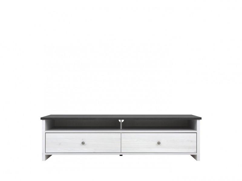 TV Cabinet White Wash Wood Effect - Porto (RTV2S/160)