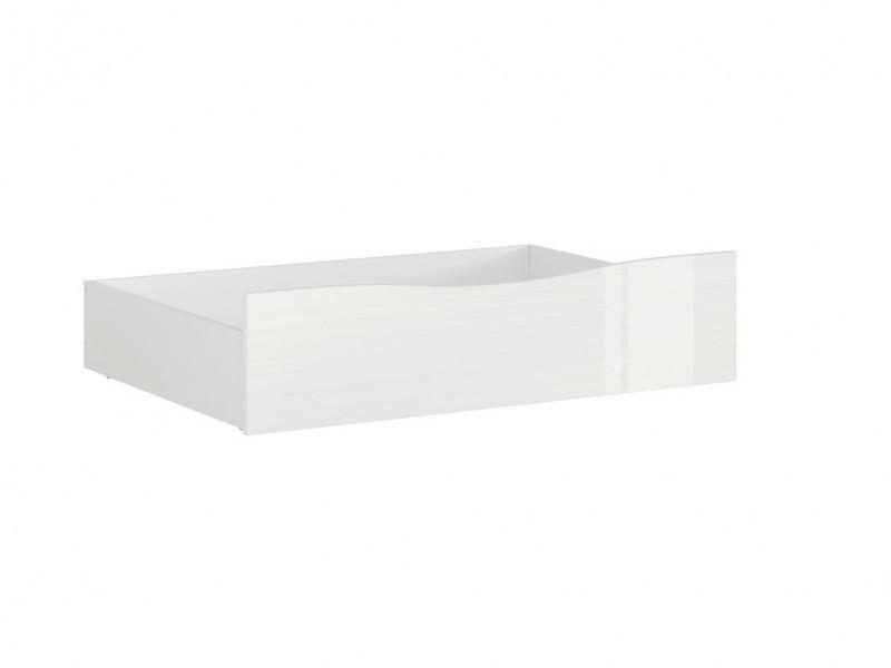 Modern Underbed Storage Drawer for Bed Frame in White Gloss - Pori (L87-SZU-BIP-KPL01)