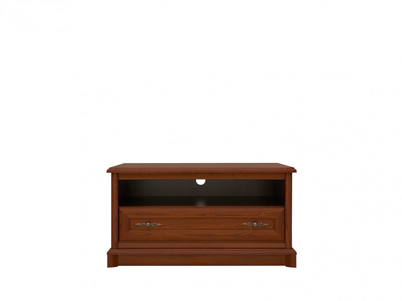 TV Stand Cabinet Classic Style Traditional Living Room Furniture Chestnut Finish - Kent (S10-ERTV100-KA-KPL05)