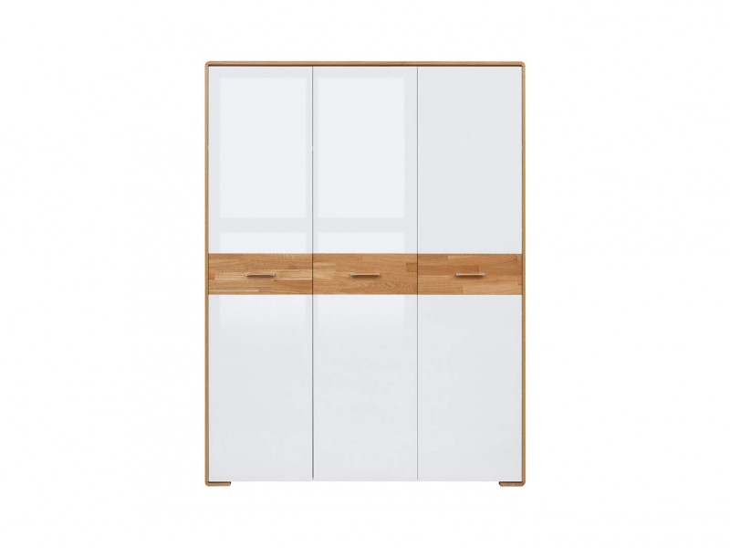 Three Door Wardrobe - Bari (S332-SZF3D-BI/DNA/BIP-KPL01)