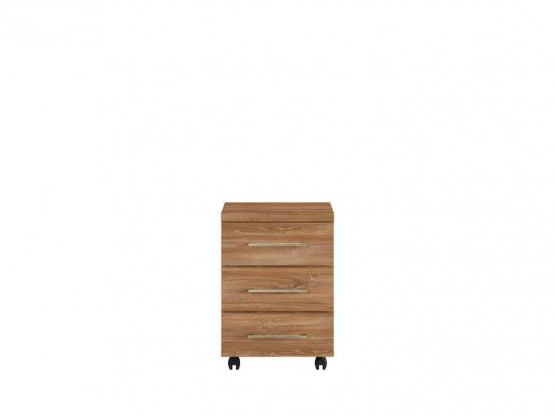 Pedestal Drawer Unit Home Office Mobile Storage Drawers Oak finish - Gent (KON3S/6/4)