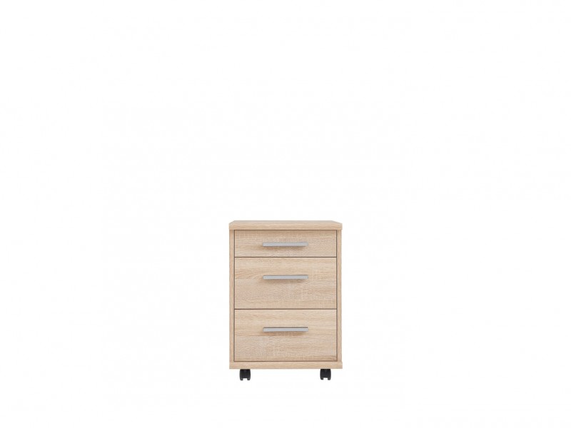 Pedestal Drawer Unit Home Office Mobile Storage Drawers Oak finish - BRW Office (S173-KON3S/40-DSO-KPL02)
