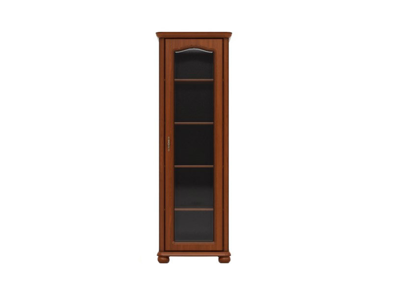 Glass Display Cabinet Right Classic Style Traditional Living Room Furniture Cherry Finish - Natalia (S41-WIT/70_LP-WIP-KPL04)