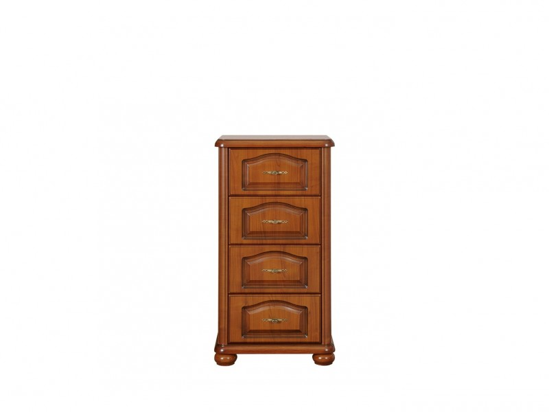 Chest of Drawers Classic Style Traditional Bedroom Furniture Cherry Finish - Natalia (KOM60/4S)