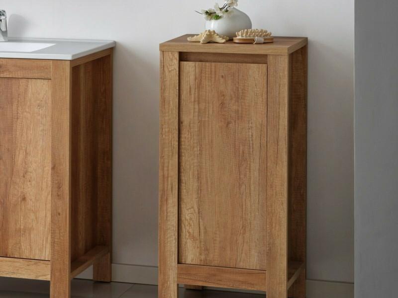 Classic Small Freestanding Bathroom Cabinet Storage Unit 40cm Oak - Classic Oak (CLASSIC_810_OAK)