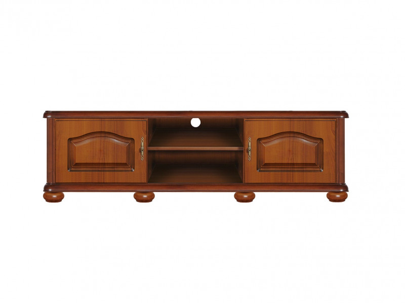 TV Cabinet Stand 160cm Unit Classic Style Traditional Living Room Furniture Cherry Finish - Natalia (RTV2D)