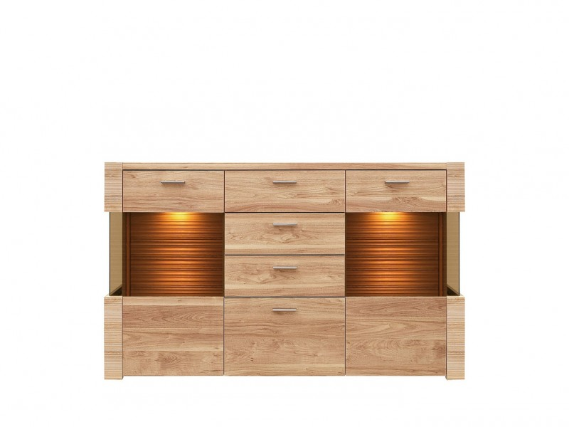 Raflo - Wide Sideboard Dresser Display Cabinet with LED Lighting (KOM2W4S/10/16)
