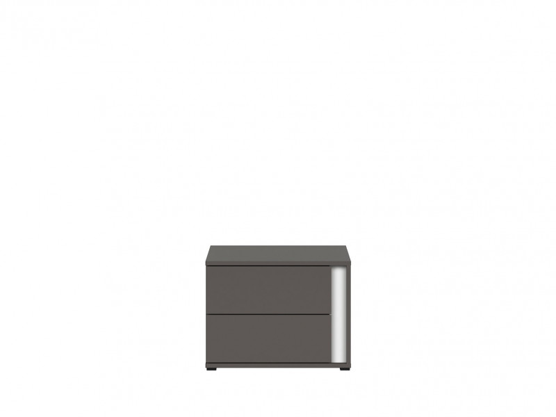 Bedside Cabinet Table Left Modern Kids Bedroom - Graphic (S343-KOM2SL/C-SZW)