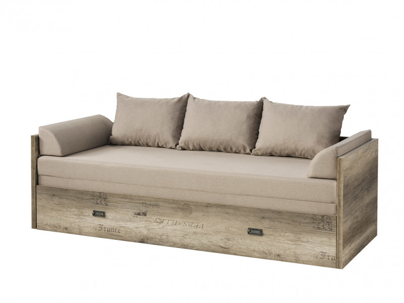 Urban Convertible Sofa Bed King Size Bed Daybed Frame Mattress with Storage - Malcolm (S325-LOZ/80/160-DAMO/DAMON-SET)