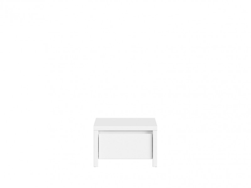 White Gloss Bedside Cabinet Side Table - Kaspian W (KOM1S)