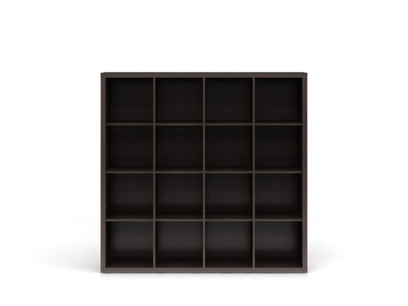 Wide Bookcase Shelf Cabinet 16 Compartments Wenge, White or Sonoma Oak Finish- Nepo (REG/15/16)