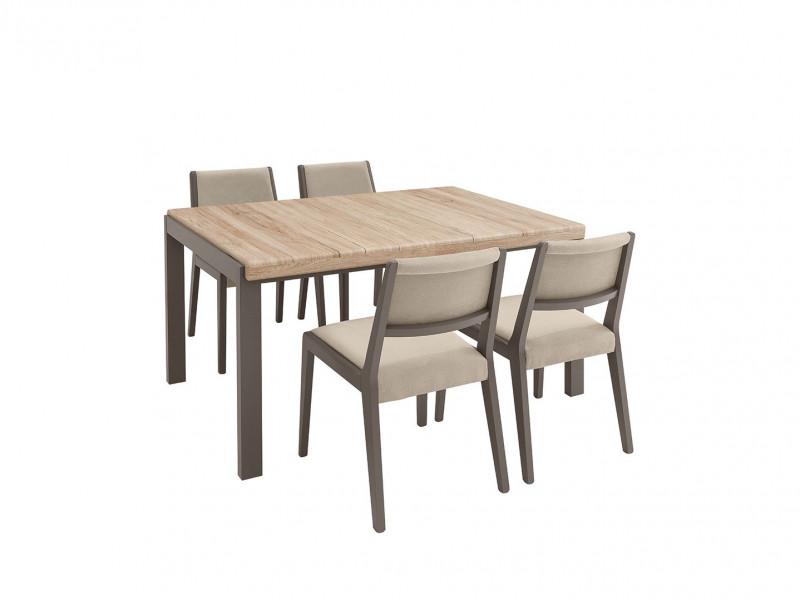 Grey & Oak Dining Room Furniture Set - Author (STO / ALHER)