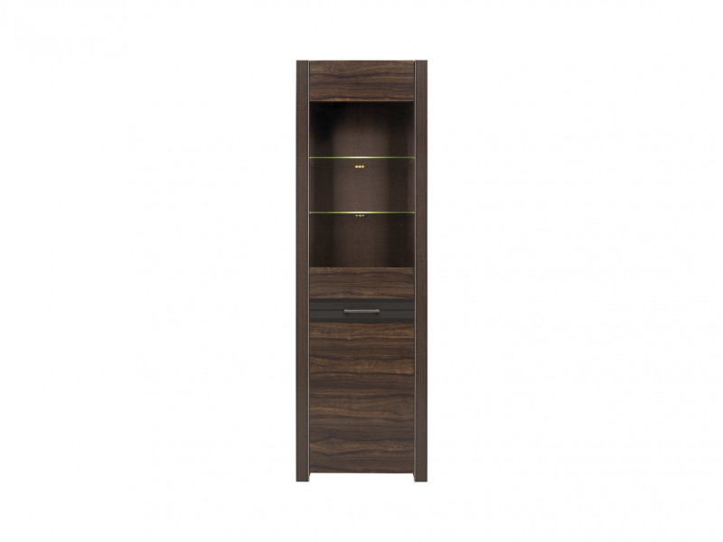 Tall Narrow Glass Cabinet with LED light - Alhambra (S306-REG1W-AHB-KPL01)