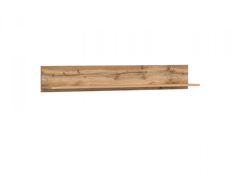 Modern Oak Effect Wall Hung Storage Panel Floating Shelf Unit 135cm - Zele (S383-POL/135-DWO-KP01)