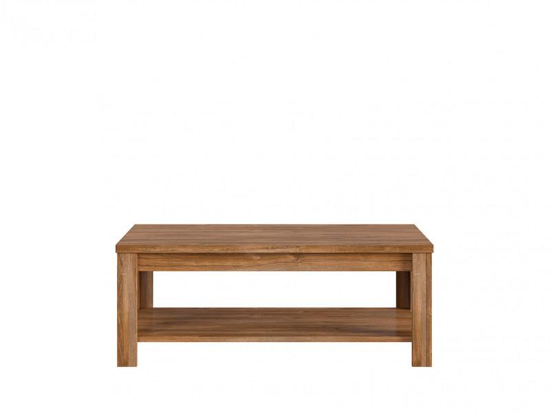 Modern Rectangular Oak effect Coffee Table with Storage Shelf - Gent (D05021-LAW/5/13-DAST-KPL01)