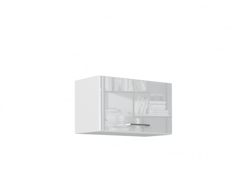 White High Gloss Kitchen Extractor Housing Wall Cabinet 600 Cupboard 60cm Hanging Unit - Rosi (STO-ROSI-W60_OK-BI-BIP-KP01)
