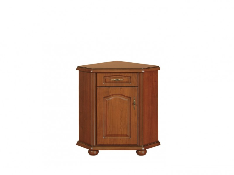 Corner Sideboard Dresser Cabinet Left Classic Style Traditional Living Room Furniture Cherry Finish - Natalia (S41-KOMN60_L-WIP-KPL01)