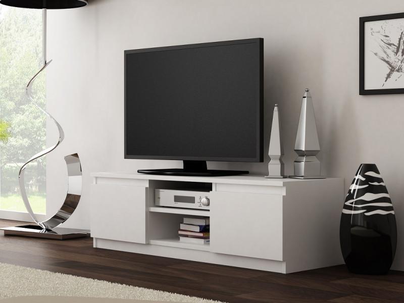 Modern Small TV Cabinet 120cm Unit White Matt - Cheri (RTV120WhiteMatt)