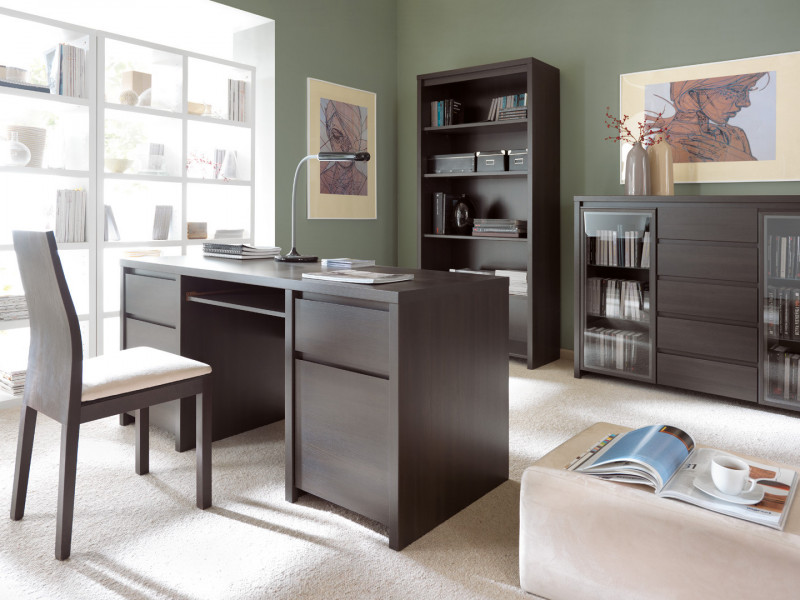 Office Study Furniture Set 1 Wenge Brown - Kaspian (KASPIAN OFF SET1 WE)