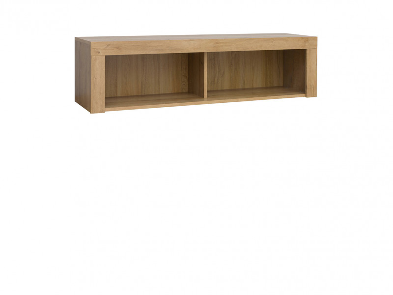 Wall Mounted Storage Unit Shelf Cabinet in Oak finish 120cm - Balder (S382-SFW/120-DRI-KPL01)