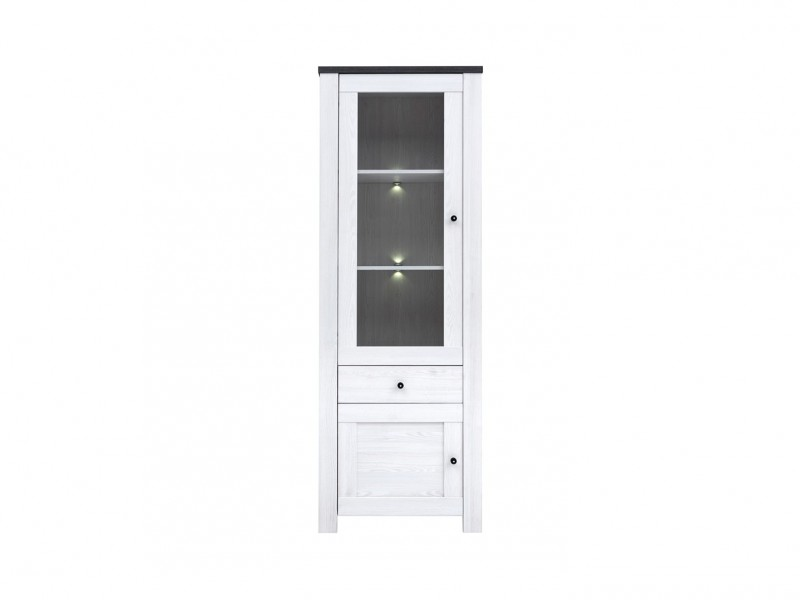 Antwerpen - Glass-Fronted Display Cabinet with LED Lights (REG1W1D1S)