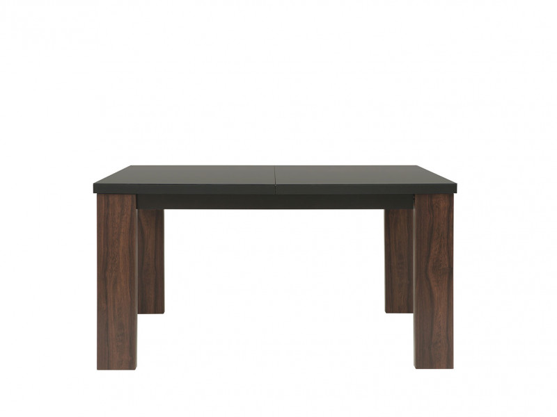 Extendable Dining Table with black glass top - Alhambra (S306-STO/140-AHB/CA-1-KOR+SZK01)