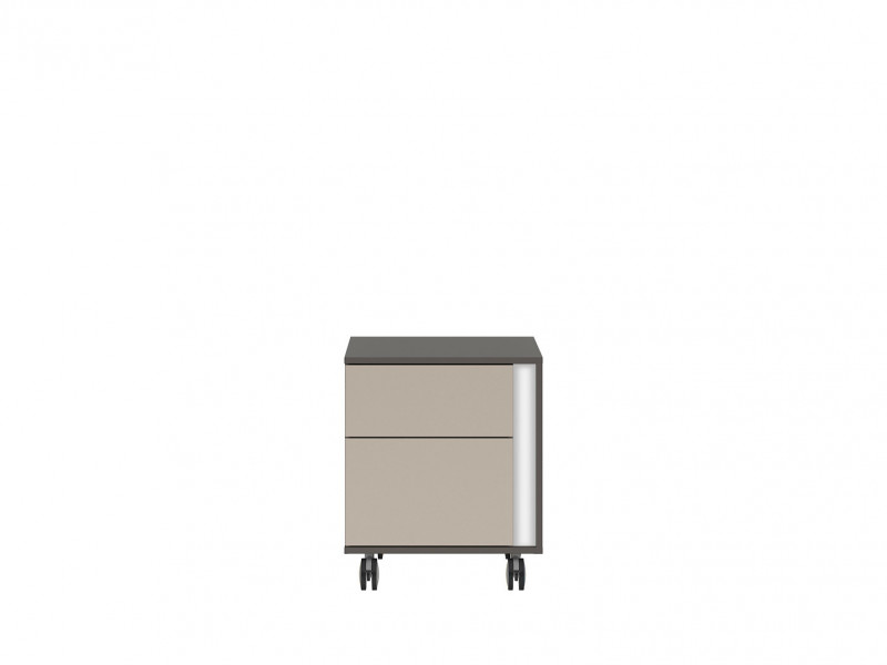 Pedestal Drawer Unit Home Office Mobile Storage Drawers Left in White Gloss Beige Grey - Graphic (KTN2SL)