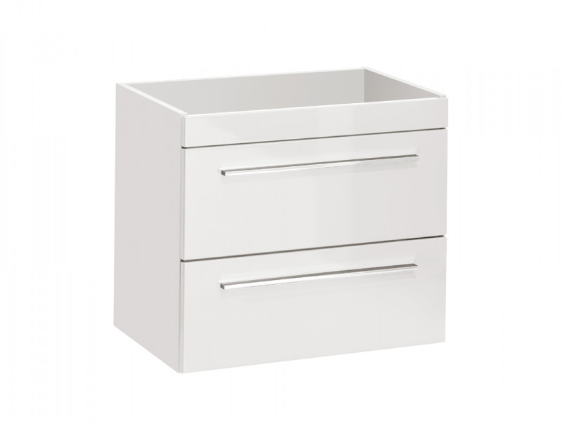 Modern Vanity Bathroom Cabinet Sink Storage Unit White Matt/White Gloss - Twist (TWIST_820_WHITE)