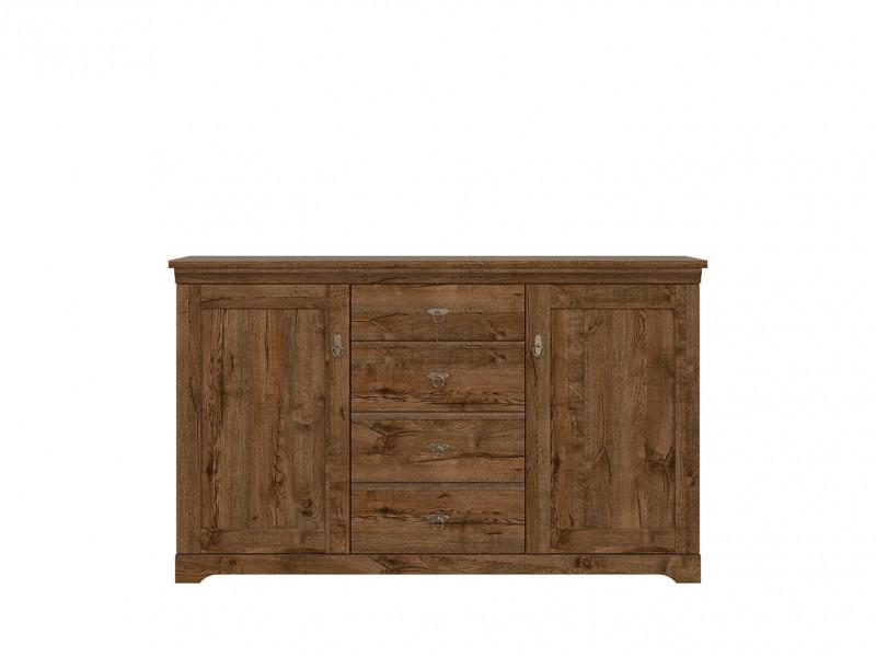 Classic Large 2-Door Sideboard Dresser Cabinet Chest of 4 Drawers Storage Unit Dark Oak - Patras (S405-KOM2D4S-DARL)