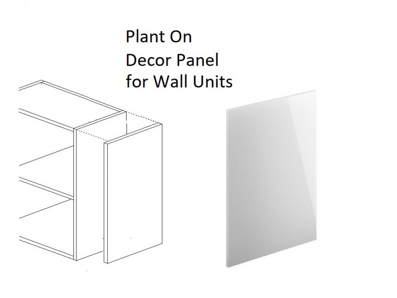 White High Gloss End Panel for Kitchen Wall Units Plant On Style H 72cm W 32cm - Antila (HOF-ANTILA-END_PANEL_WALL-BIP-KP01)