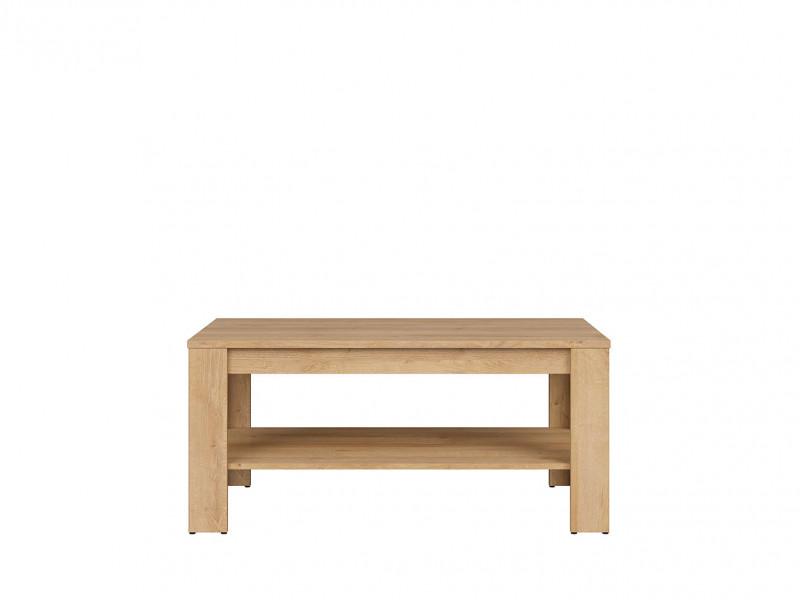 Modern Rectangular Coffee Table with Storage Shelf 110 cm Riviera Oak - Balder (D05032-LAW/5/11-DRI/DSO-KPL01)