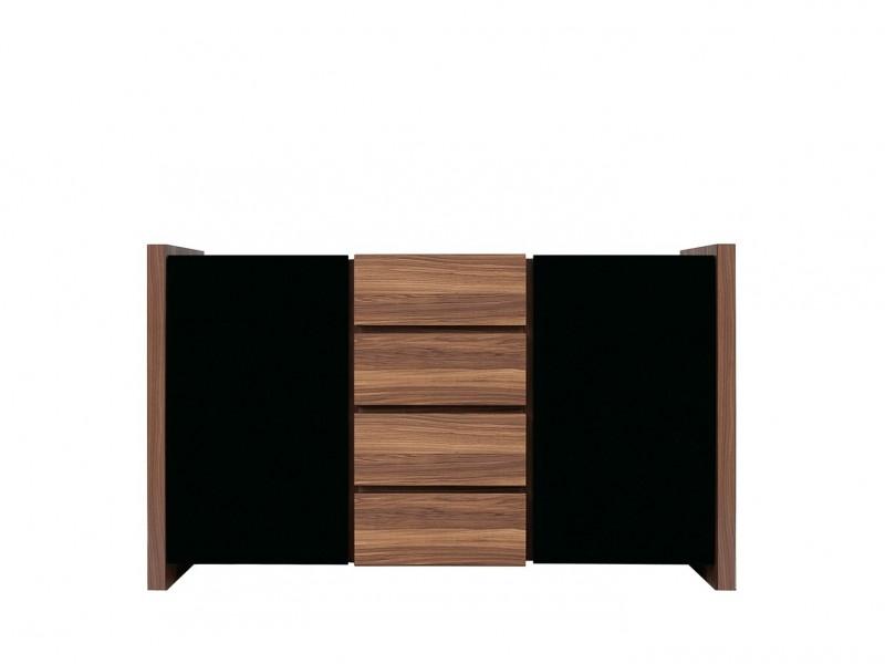 Sideboard Dresser Cabinet in Black Gloss - Venom (KOM2D4S)