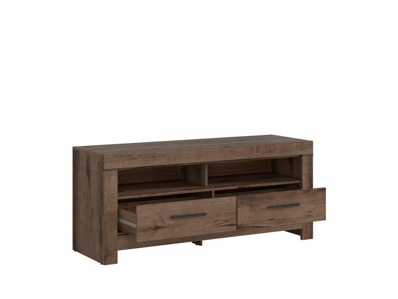 Modern Living Room TV Cabinet Media Bench Storage Cabinet Unit with Drawers Monastery Oak - Balin (S365-RTV2S-DMON-KPL01)