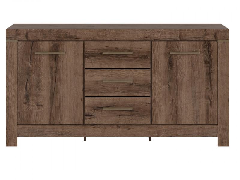Sideboard Dresser Cabinet Modern Oak - Balin (S365-KOM2D3S-DMON-KPL01)